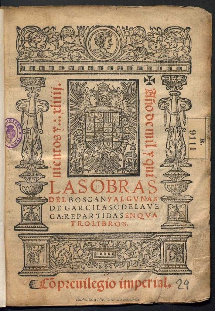 Garcilaso de la Vega y obras de Boscán