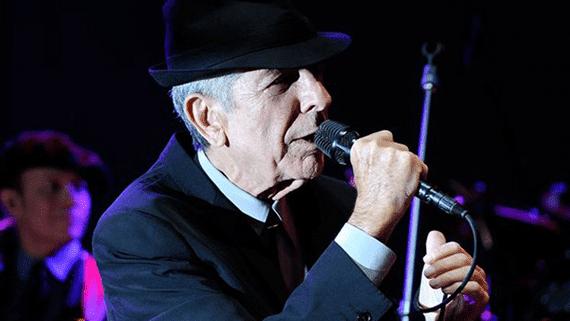 Actuación de Leonard Cohen