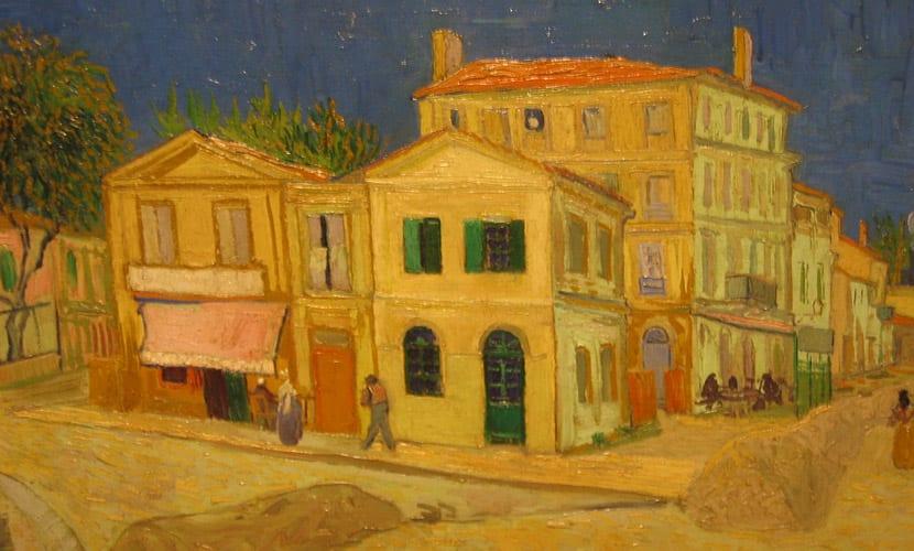 Cuadro de Van Gogh con colores cálidos