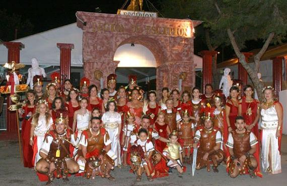 Personas vestidas de romanos