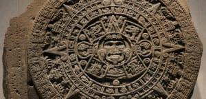 Calendario azteca en el Museo Nacional de Antropología e Historia de Ciudad de México