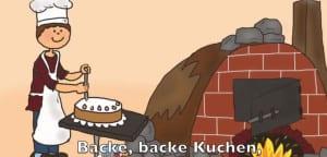 """Representación de la canción """"Backe, backe Kuchen"""""""