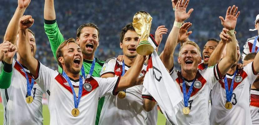 Celebraciones de Alemania tras vencer en Brasil 2014