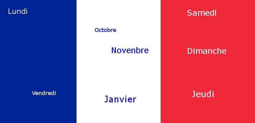 Los días de la semana y los meses del año en francés