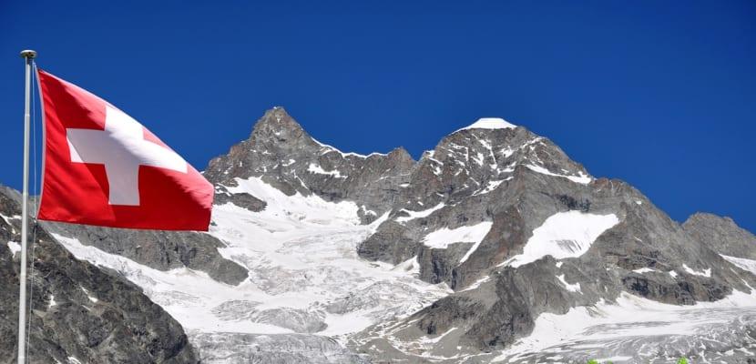 Bandera-Suiza-y-paisaje