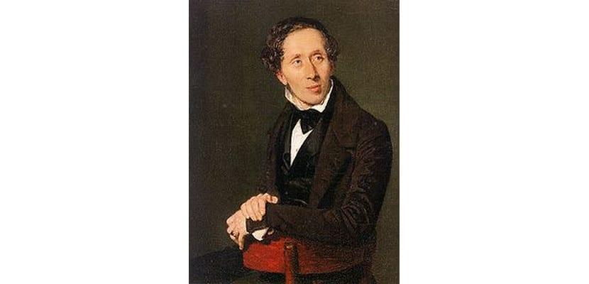 Retrato de Hans Christian Andersen