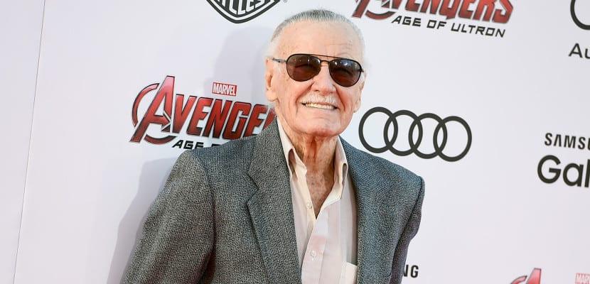 Stan Lee en la premiere de 'Los Vengadores: La era de Ultrón'