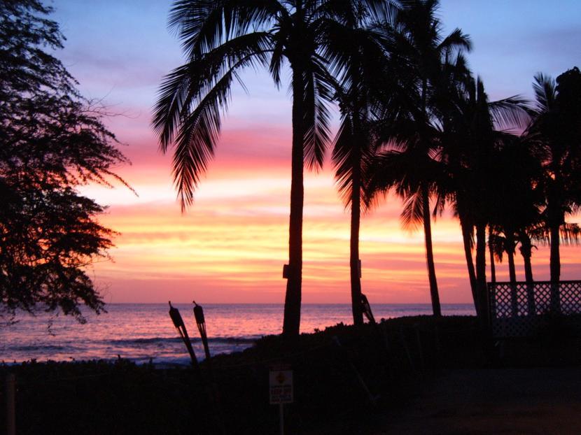 Anochecer en hawai
