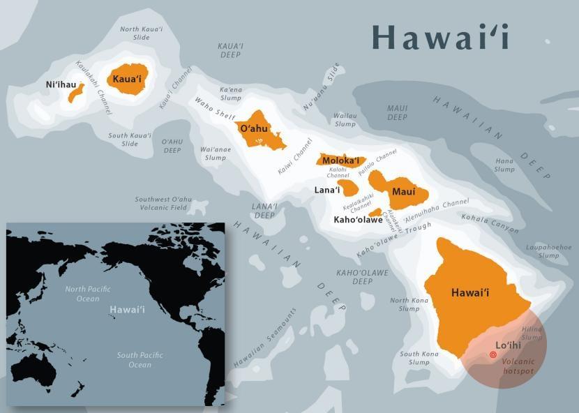 hawai en el mapa
