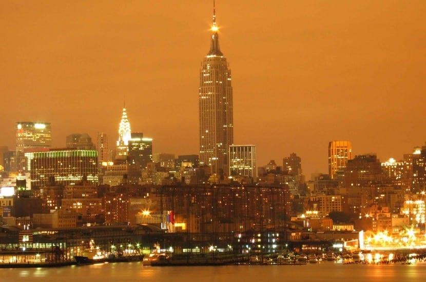 Contaminación por luz en el Empire State Building