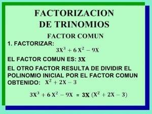 Ejemplo de factorizar polinomios