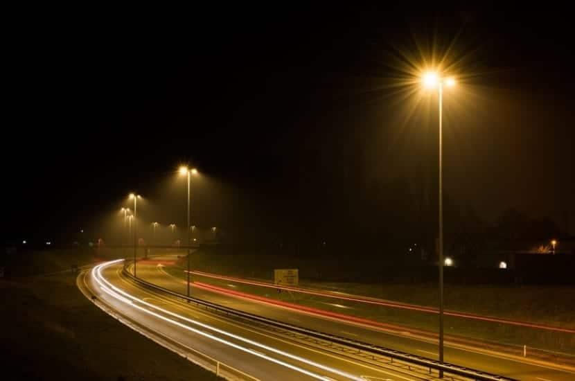 Contaminación lumínica por farolas