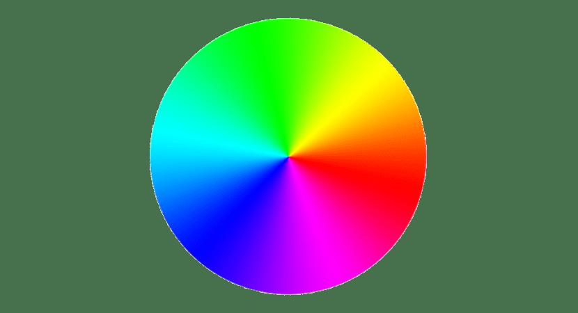 Rueda cromática de colores primarios