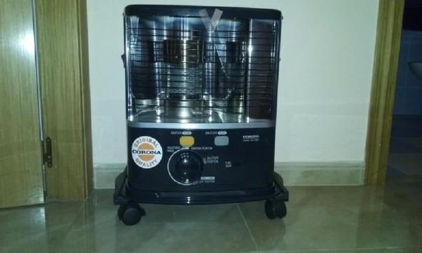 Estufa de parafina con ruedas