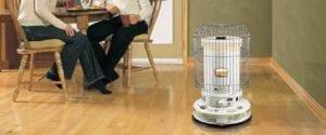 Estufa de parafina para calentar una casa